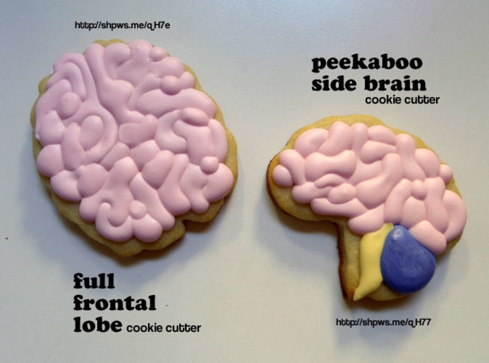 Full Frontal Lobe Cookie Cutter 3d printed