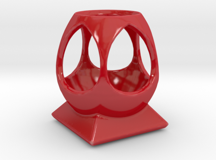"""""""Phi"""" Multipurpose Desk Caddy 3d printed Vibrant, celebratory, red is an attention-getter and energizer."""