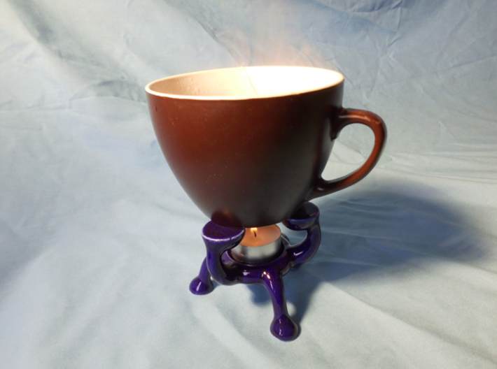 Explosive teapot warmer 3d printed Cup, tealight and tea not inlcuded