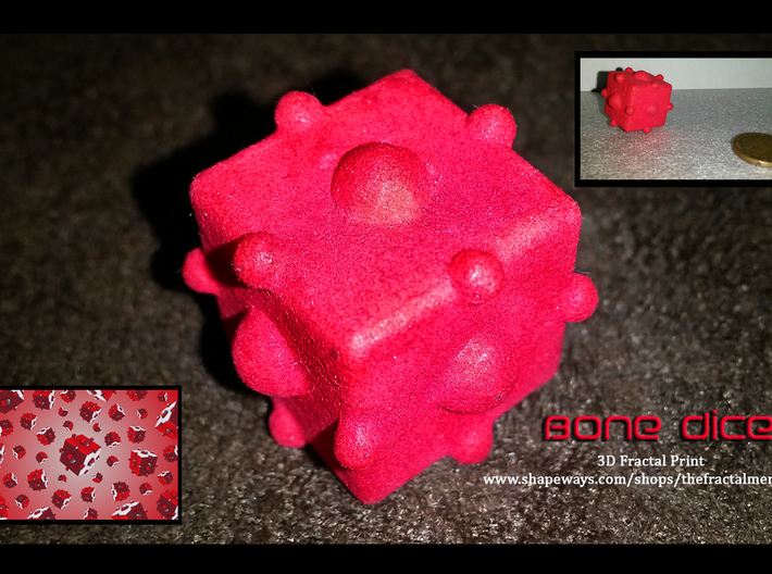 Bone Dice 3d printed