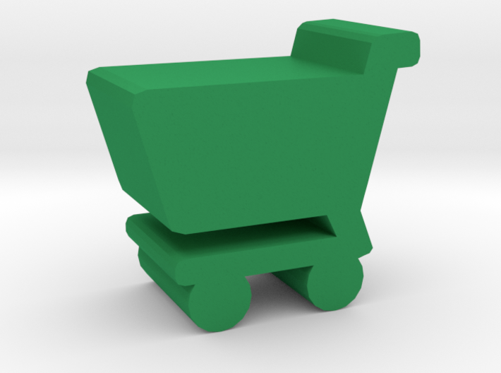 Game Piece, Shopping Cart 3d printed
