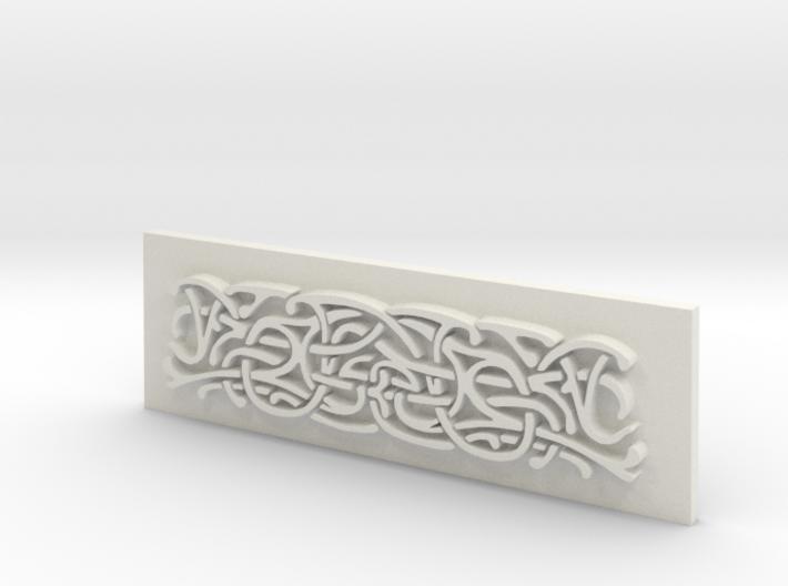 Thor Hammer (Mjolnir) Scroll panel 3d printed