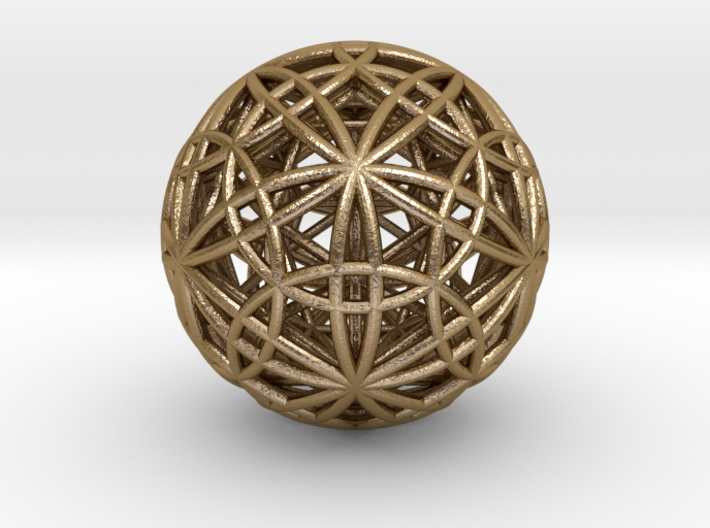 IcosaDodecasphere w/ Stellated IcosiDodecahedron 3d printed