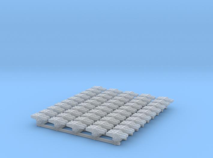 Twin Medium Turret Pack 3d printed