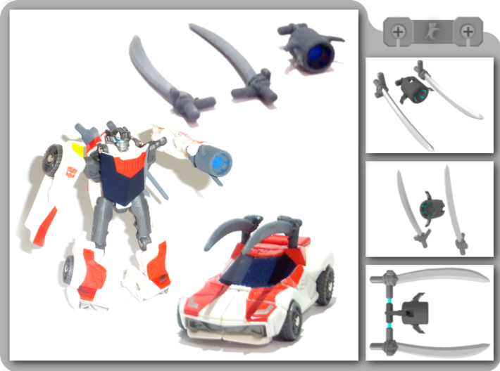 Legion Wheeljack Upgrade Kit 3d printed
