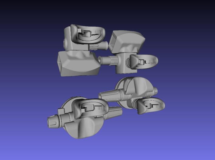 1/6 Scale Scuba Diving Regulators.Set 3d printed