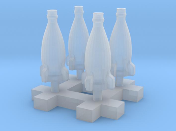 Rocket bottle 1:12 150mm Scale 20cm 4pcs 3d printed