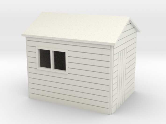 Garden Shed 8 x 6 Apex Roof oo 4mm 3d printed