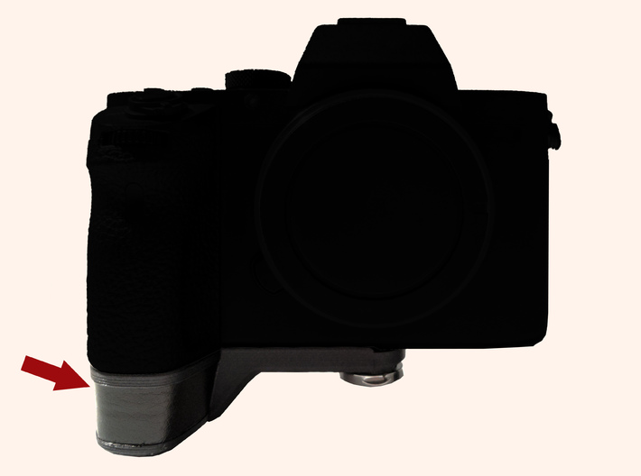 Sony A7II A7rII grip extension 3d printed One of our test prints mounted on camera