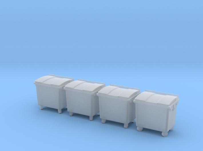 TJ-H01126x4 - Poubelles 4 roues 3d printed
