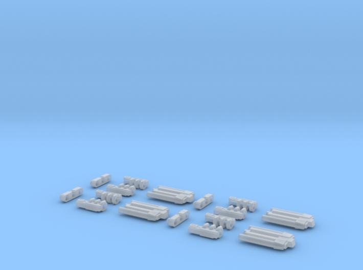 4 Pack B-wing S-foil Hinge 3d printed