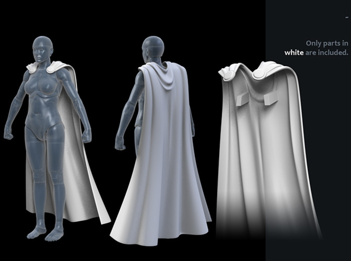 FB01-Cape-04 7inch 3d printed