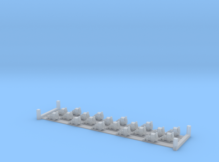 JCB 3CX (1:1250) x20 3d printed