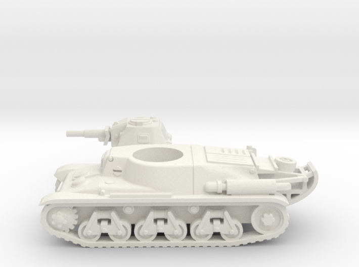 Hotchkiss tank (French) 1/87 3d printed