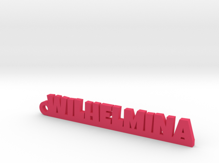 WILHELMINA Keychain Lucky 3d printed