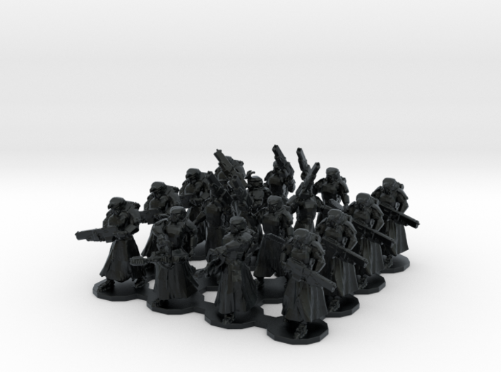 15mm Assualt Troops 16 w/ Flamethrowers 3d printed