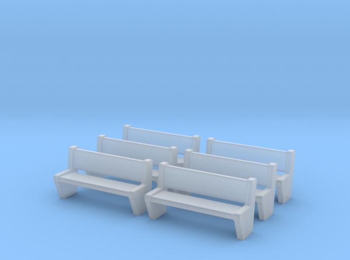 TJ-H04554x6 - bancs de quai en beton 3d printed