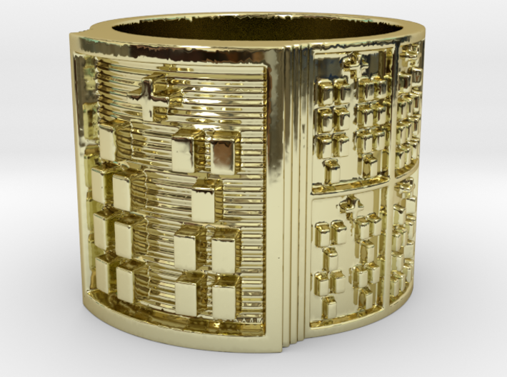 IKABARA Ring Size 11-13 3d printed