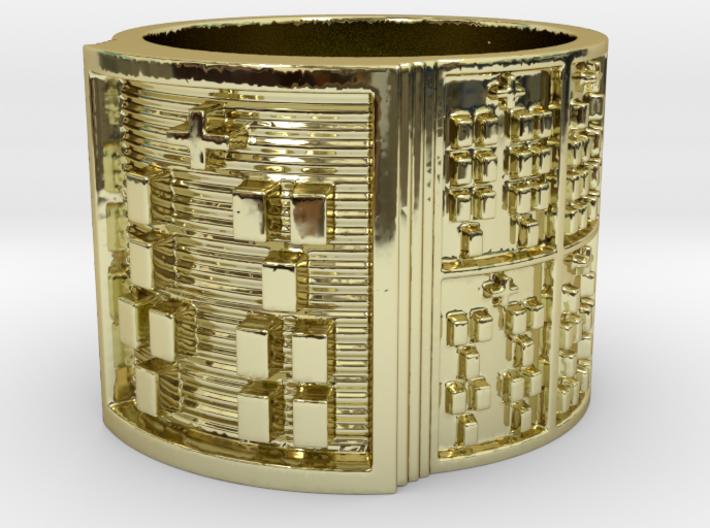 IKARETE Ring Size 14 3d printed