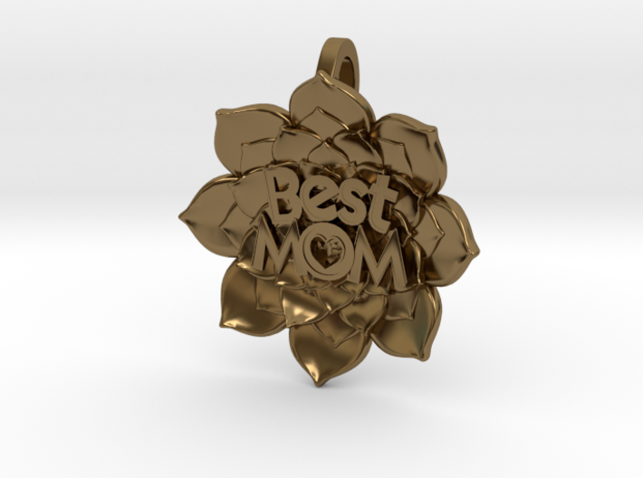 Mother's Day - Flower Pendant #BestMom 3d printed