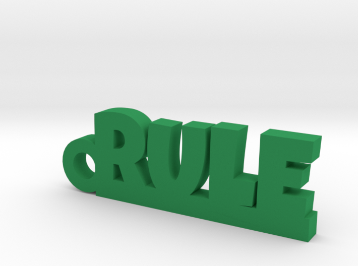RULE Keychain Lucky 3d printed