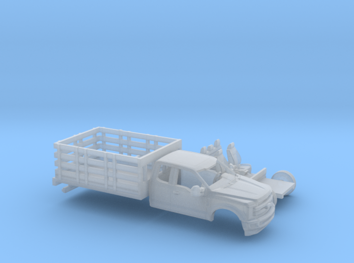 1/87 2017 Ford F-Series Ext. Stakebed Kit 3d printed