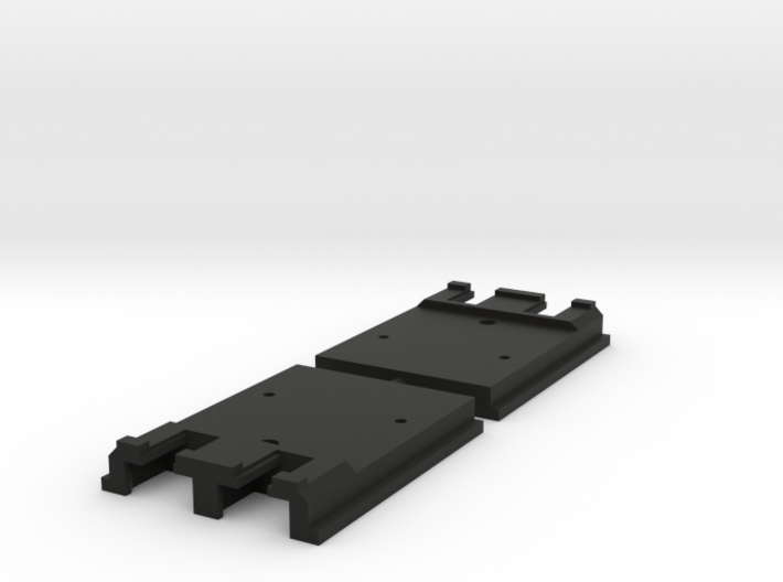 """Kato Unijoiner adapter for Peco 009 track """"on-top"""" 3d printed"""