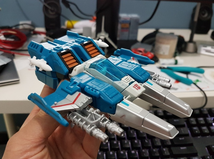 Transformers Missiles Vehicle Accessory (5mm post) 3d printed Image by seanmarclee (Titans Return Topspin)