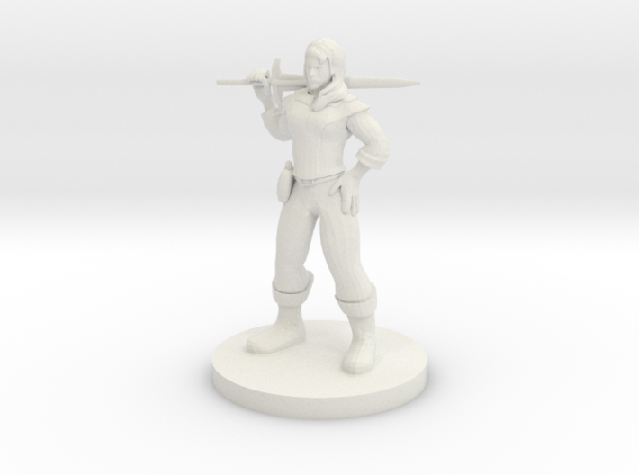 Human Female Fighter - Darathra Shendrel 3d printed