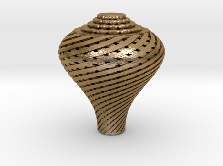 Pear Twisted Knob 3d printed