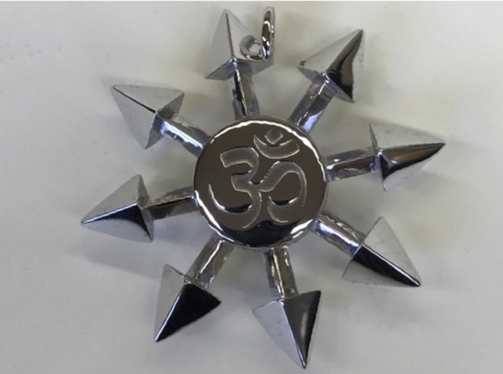 Chaos star pendant ryeplhdhf by wgseligman chaos star pendant 3d printed chaos star pendant in rhodium plated polished brass aloadofball Gallery