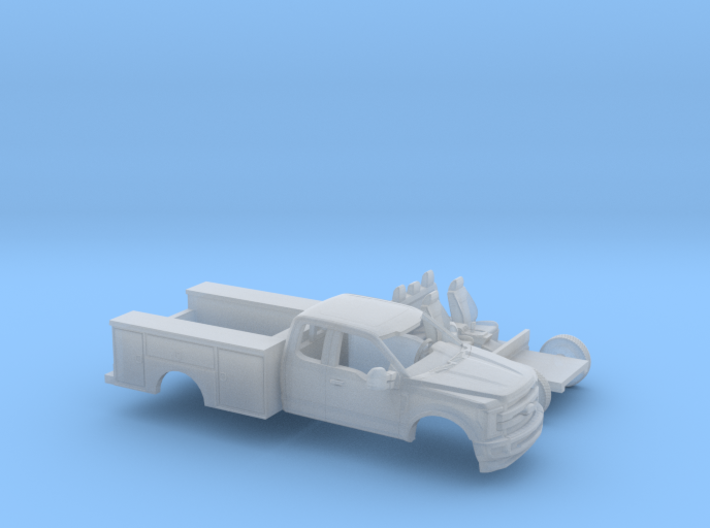 1/160 2017 Ford F-Series Ext.Cab/UtilityDually Kit 3d printed