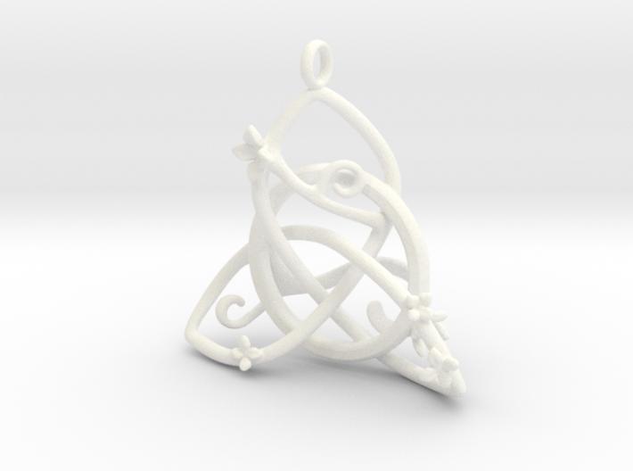 Budding Trinity Pendant 3d printed