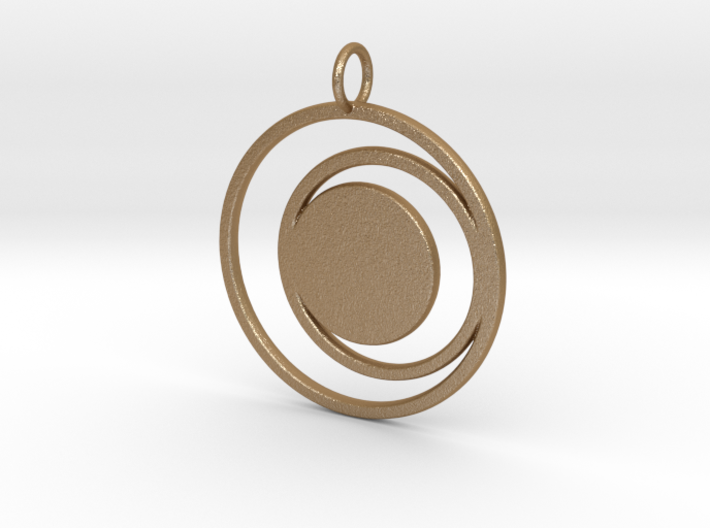 Abstract Two Moons Pendant Charm 3d printed