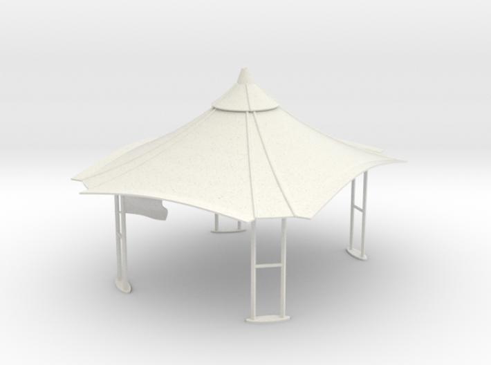 Gazebo - Roof ideal for pit lane slot car track 3d printed