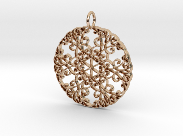 Elegant Flourish Beautiful Pendant Charm 3d printed