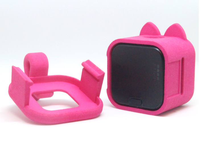 Kitty Cam - Gopro Mount for Pets 3d printed A dettachable lid helps to take the camera out