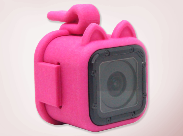 Kitty Cam - Gopro Mount for Pets 3d printed Front view of the Kitty Cam