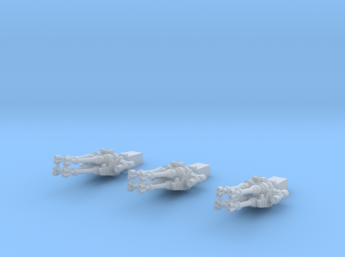 Falcon cannons, fixed, 1:144 3d printed