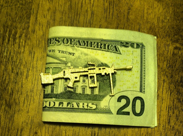 M249 SAW MONEY/TIE CLIP 3d printed