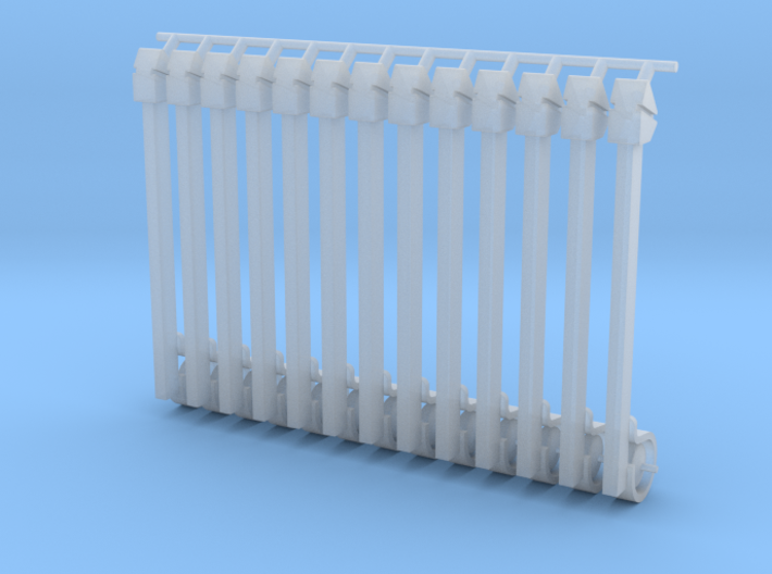 (12) GREEN STEEL FLASHER BARS 3d printed