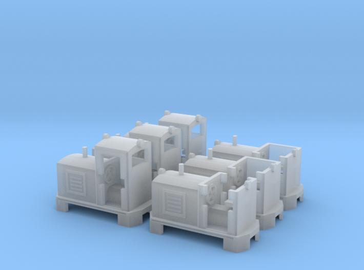 Feldbahn Dieselloks in 1:160 3d printed