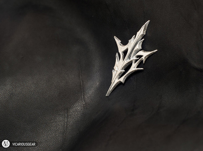 Lightning Returns Pendant 3d printed Gilding directly over the printed surface results in a finish that resembles casting.