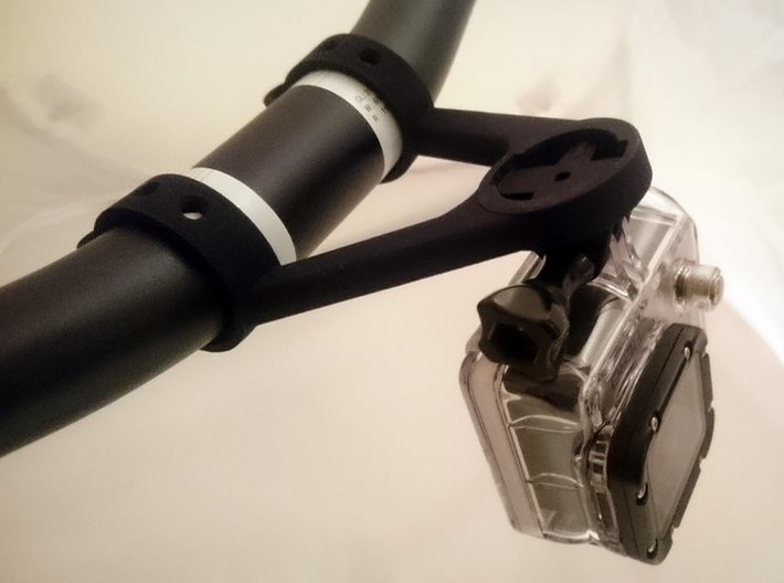 MOUNT FOR GPS EDGE WITH GOPRO 3d printed