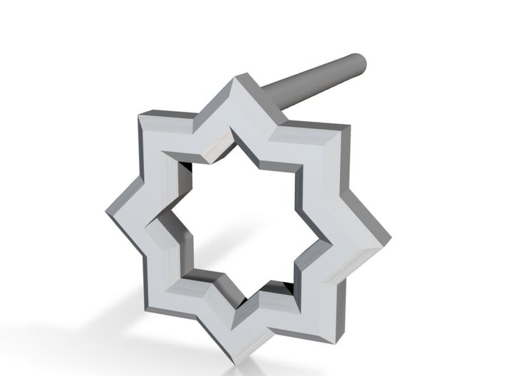 8 Pointed Star Stud 3d printed