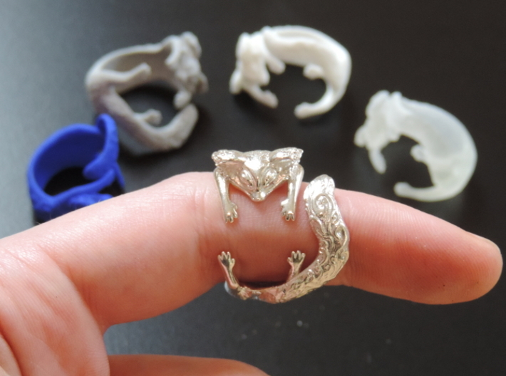 Kitty Ring 3d printed Kitty Ring biting a finger