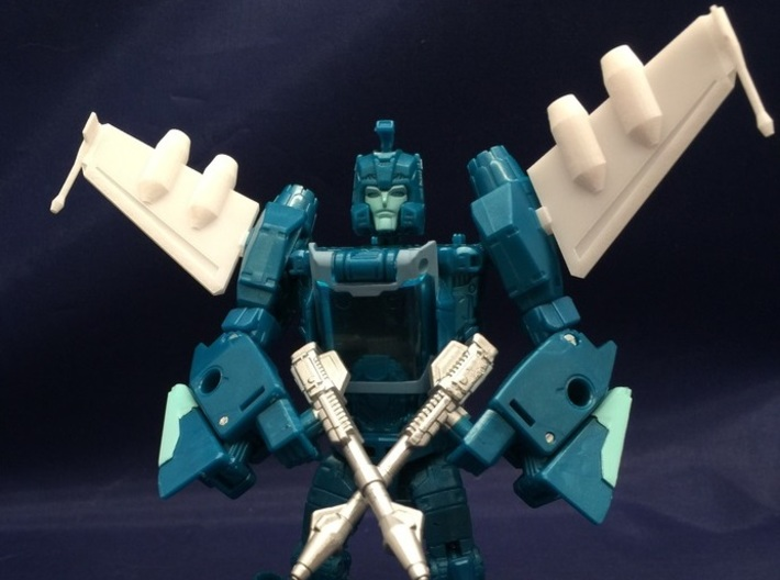 Blurr Wings With Jets 3d printed