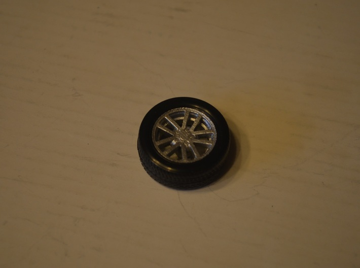 1/25 Scale Monogram/Revell 2002 SS Camaro Ten Spok 3d printed Completed wheel and tire combo.