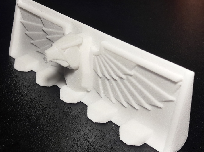 Devotional Eagle Bulldozer Blade 3d printed