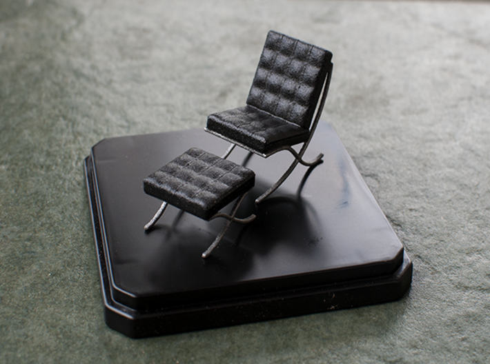 Miniature Barcelona Chair Ludwig Van Der Rohe Traak4fec By Sensaiku